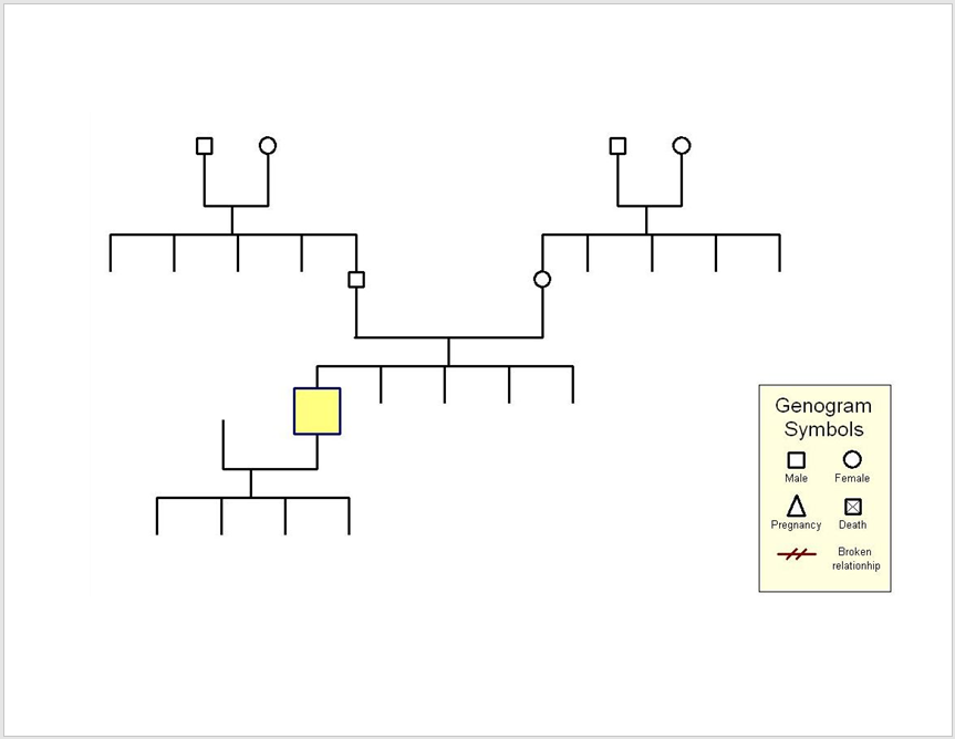 8 free genogram diagram templates ms word templatehub for Genograms templates