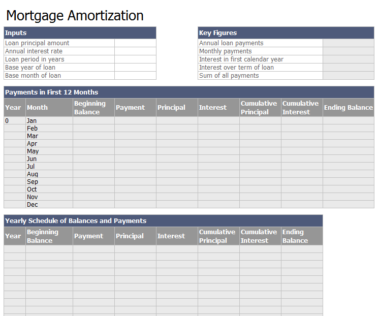 Amortization Schedule Formula >> 24 Free Loan Amortization Schedule Templates (MS Excel)