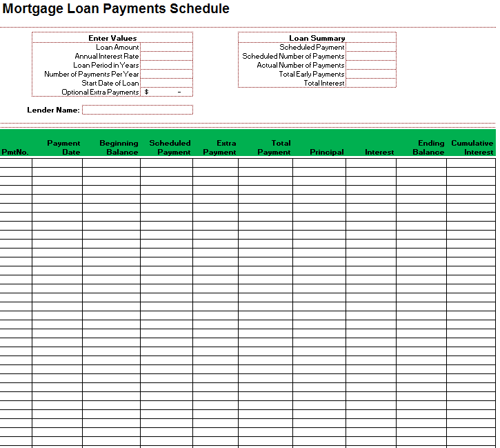 loan amortization template 13