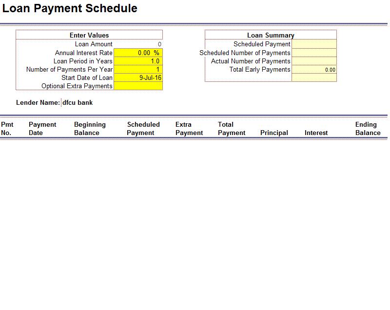 loan amortization template 22