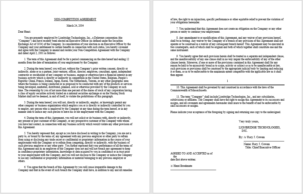 non-compete agreement template 31