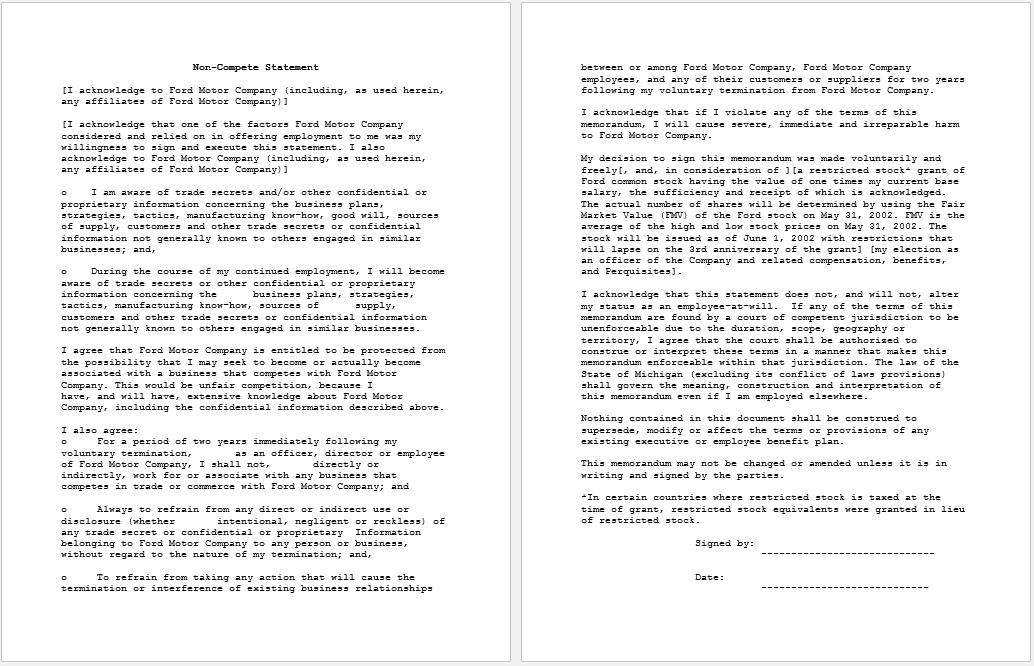 non-compete agreement template 32