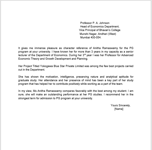 Letter Of Recommendation Personal from www.templatehub.org
