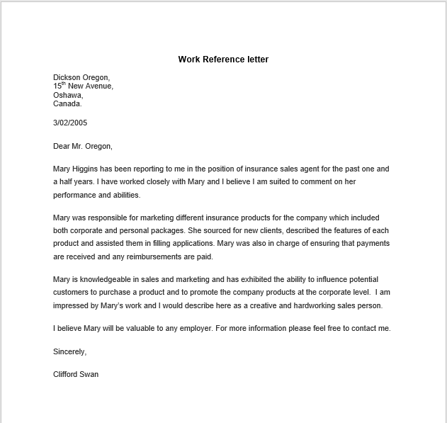 personal reference letter 32
