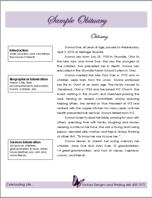 21 free obituary templates samples and guides templatehub here is download link for this sample obituary pdf pronofoot35fo Gallery
