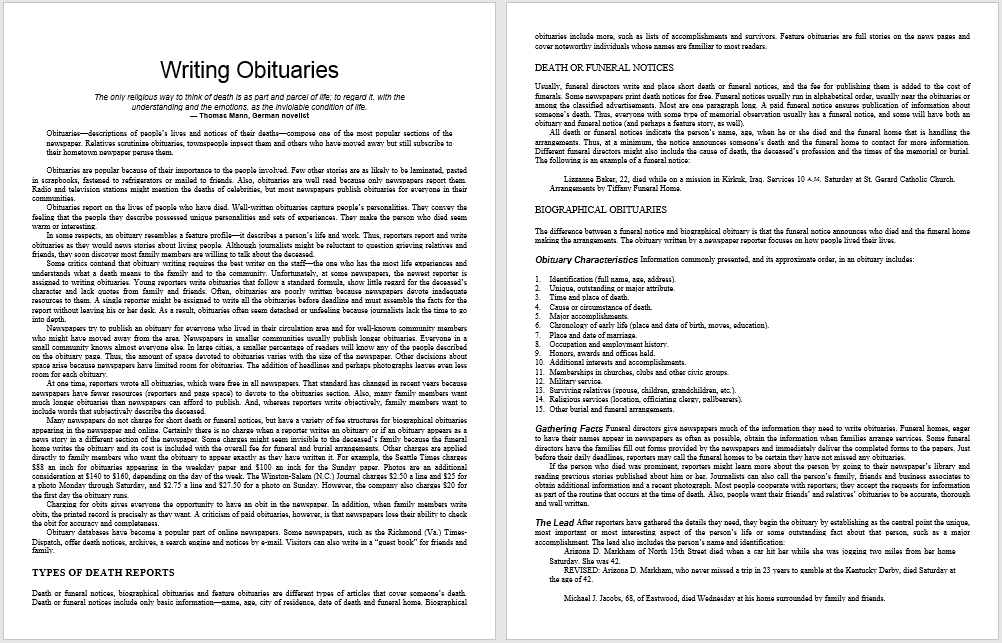 how to write an obituary Need help writing an obituary we have several example obituaries, plus tips for writing obituaries, eulogies, and unique ideas.