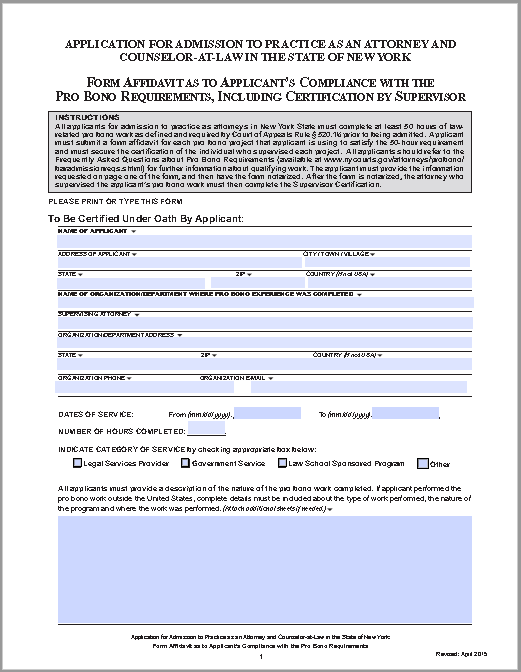 affidavit form 13