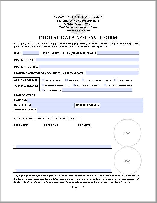 affidavit form 17