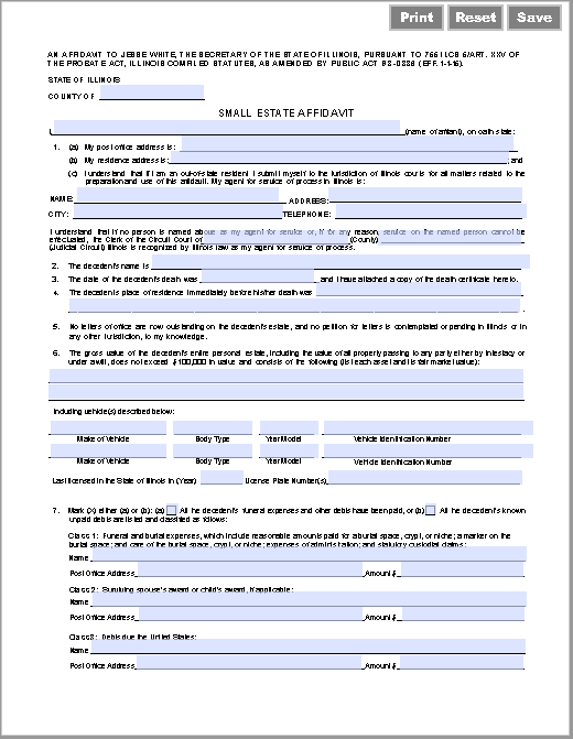 affidavit form 19
