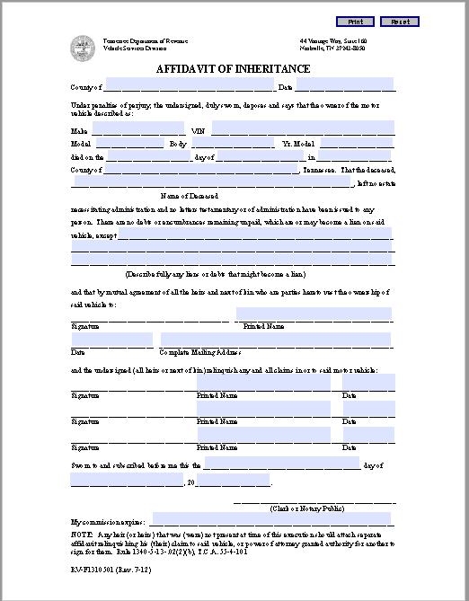 affidavit form 21