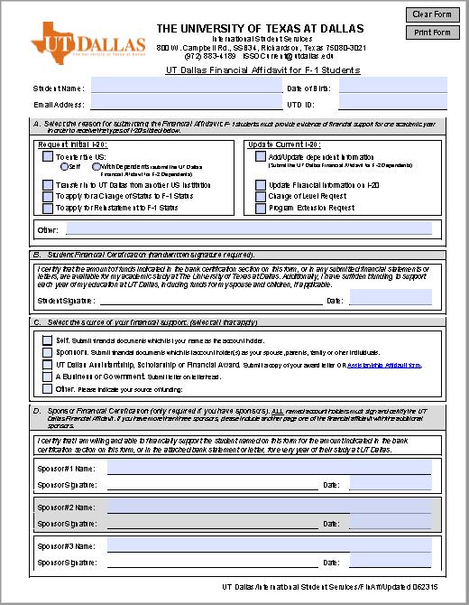 affidavit form 22