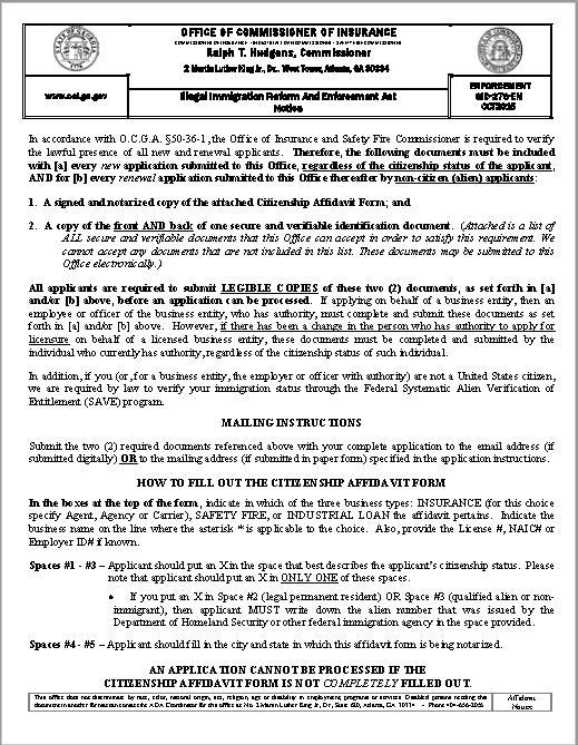 affidavit form 29