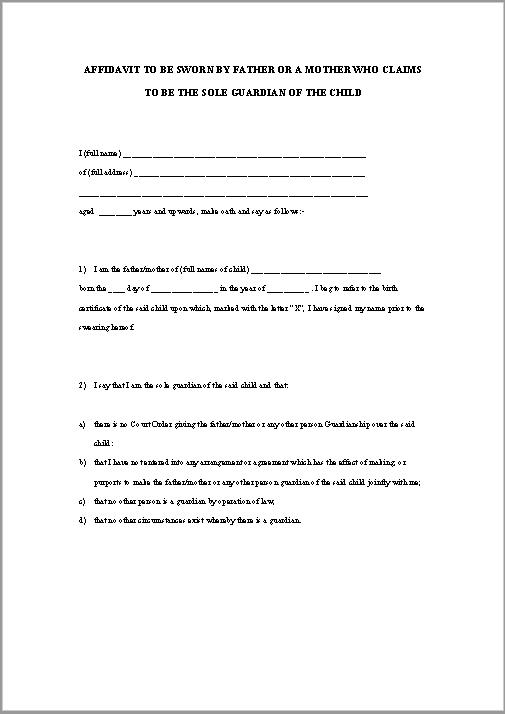 affidavit form 33