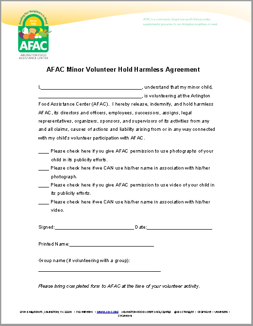 Hold Harmless Agreement Template 01