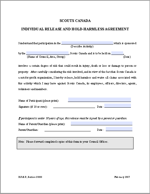 hold harmless agreement template 07