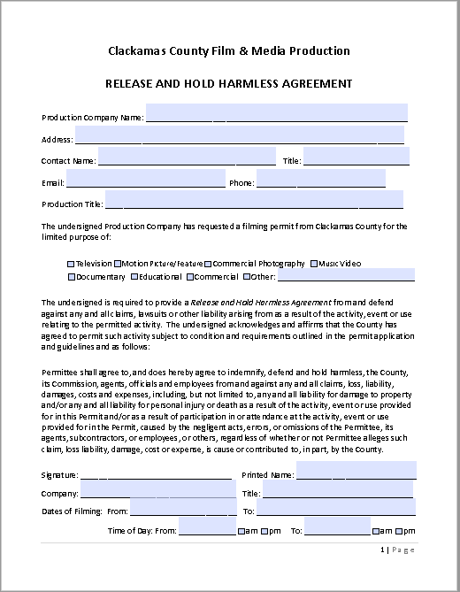 hold harmless agreement template 32