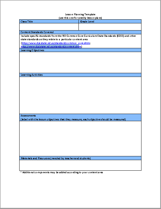 detailed lesson plan template pdf