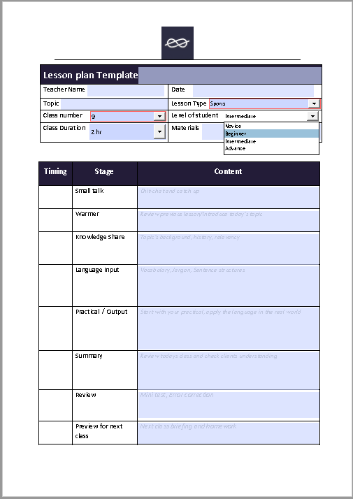 lesson plan template 13