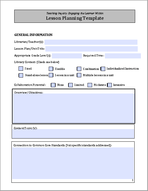lesson plan template 14