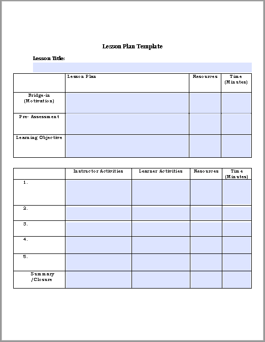 lesson plan template 21