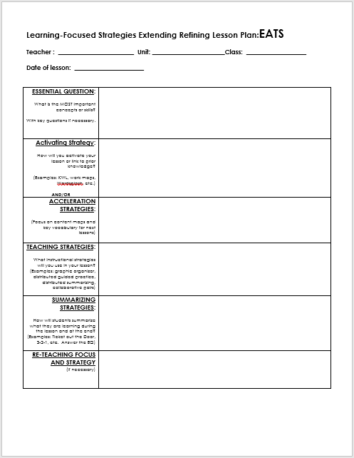Free Lesson Plan Templates MS Word And PDFs TemplateHub - Word lesson plan template