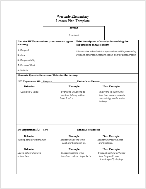 lesson plan word template 06