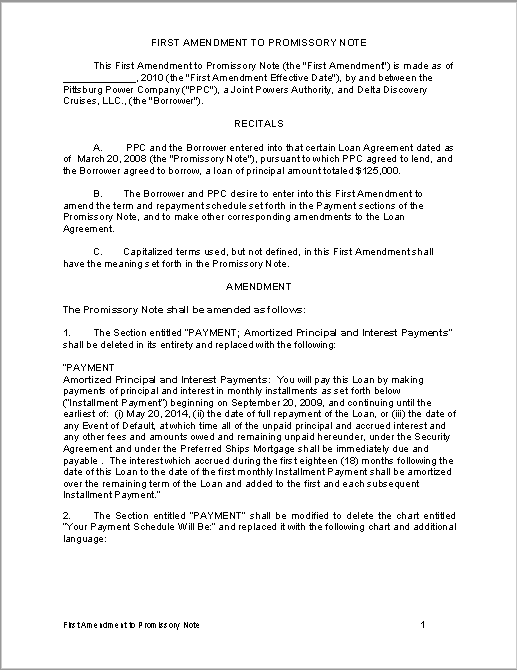 Promissory Note Template 03  Promisary Note Template
