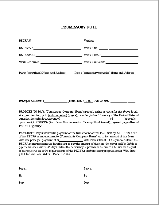 promissory note template 05