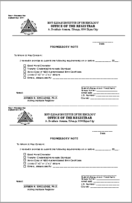 promissory note template 09