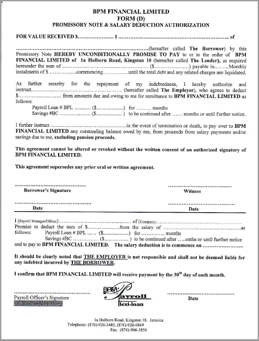 Promissory Note Template 10  Note Payable Form