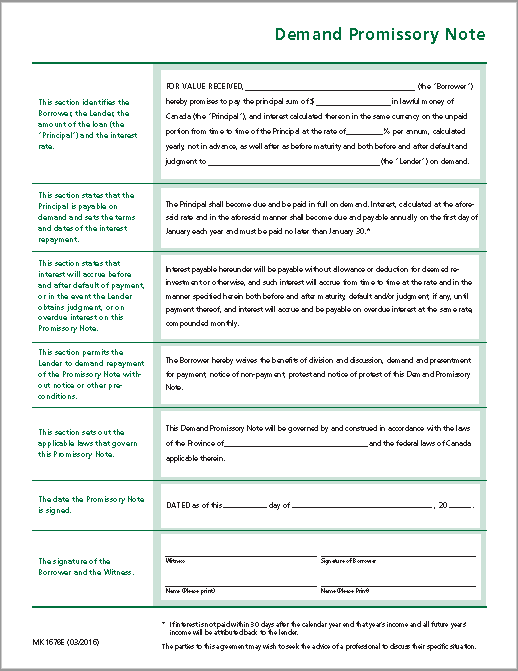Promissory Note Template 11  Demand Note Template