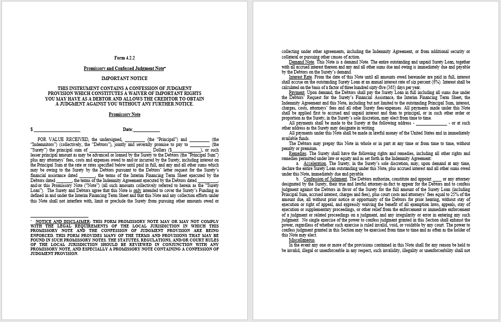 43 Free Promissory Note Samples Templates MS Word and PDFs – Notes Template Word