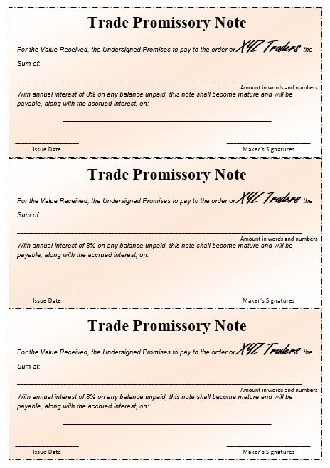 Promissory Note Template Word 10