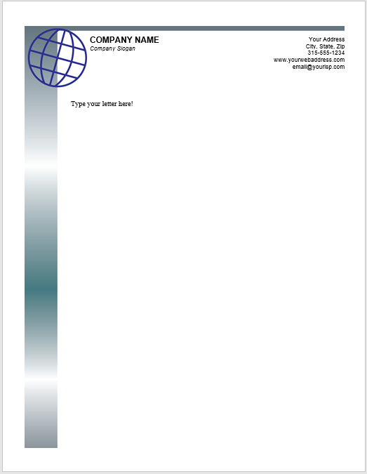 38 free letterhead templates ms word templatehub letterhead template 03 spiritdancerdesigns Image collections
