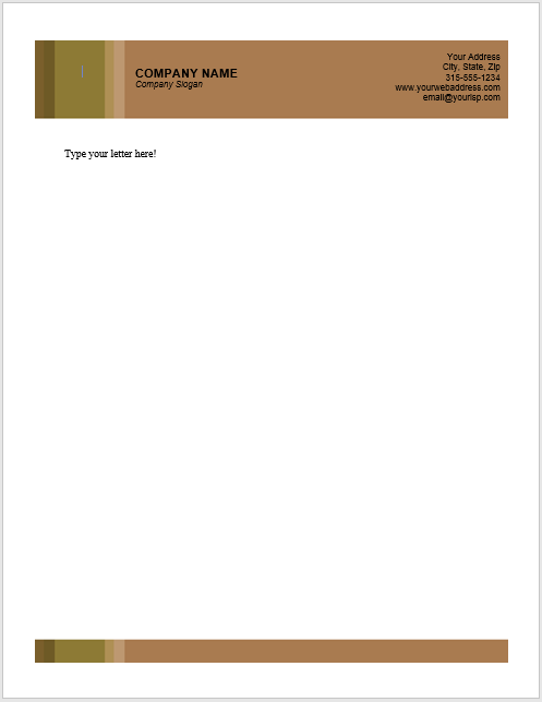 Wonderful Letterhead Template 05 In Letterhead Template Word Free