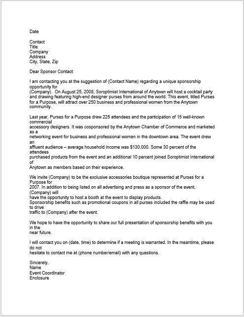sponsorship letter template 13