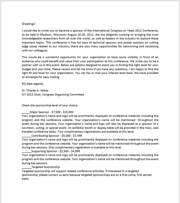 sponsorship letter template 15