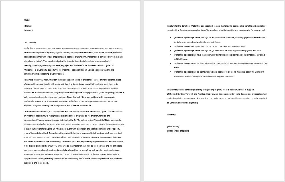 sponsorship letter template 19