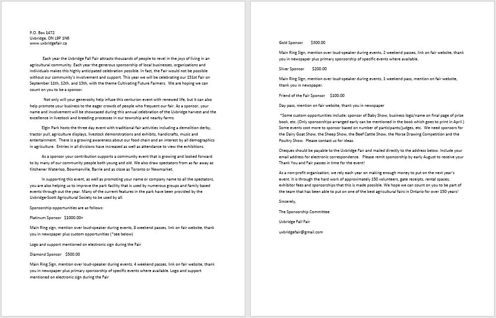 Sponsorship Letter Template 21  Free Sponsorship Letter Template