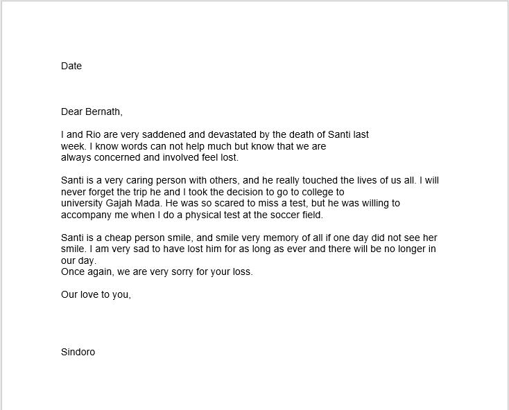 sympathy letter sample 08