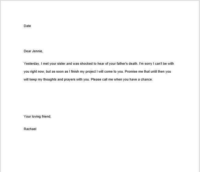 sympathy letter sample 11