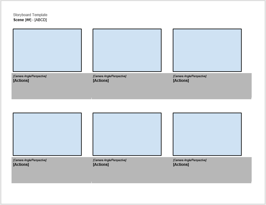 38 Free Storyboard Templates Ms Word Ms Powerpoint Templatehub