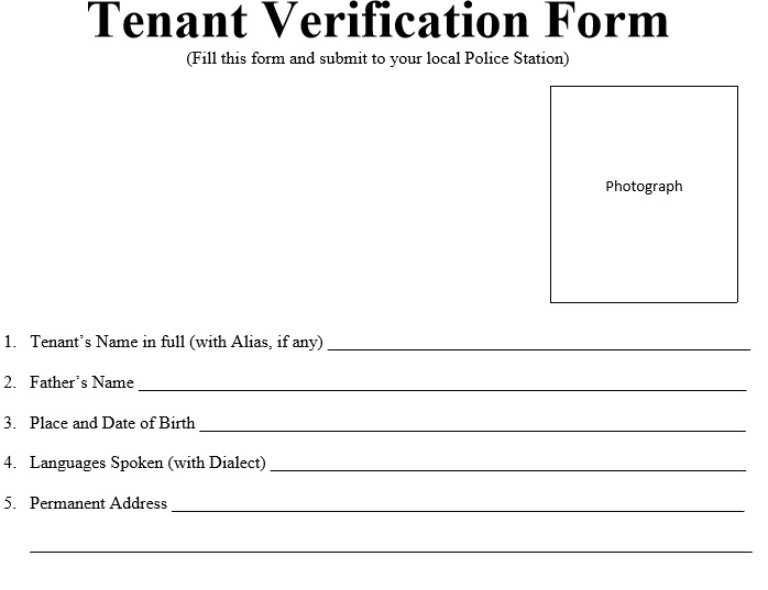 Free Tenant Verification Forms  Templatehub
