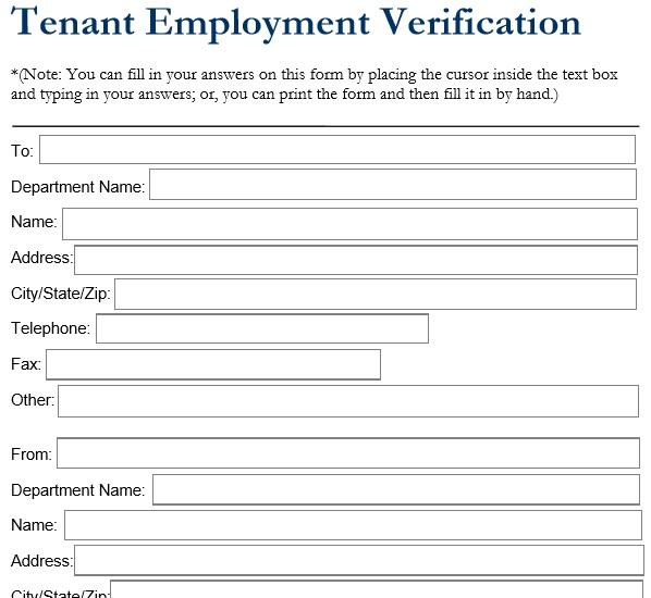 45 Free Tenant Verification Forms - TemplateHub