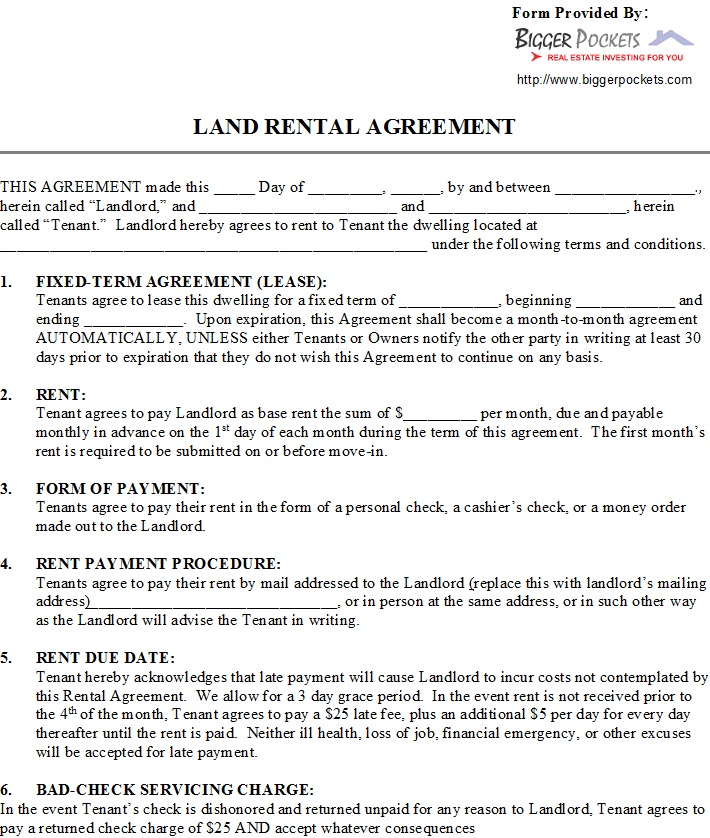 40 Rental Agreement Sample Templates Templatehub