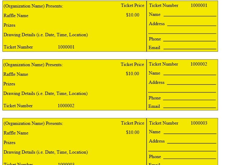 50 50 raffle ticket template free