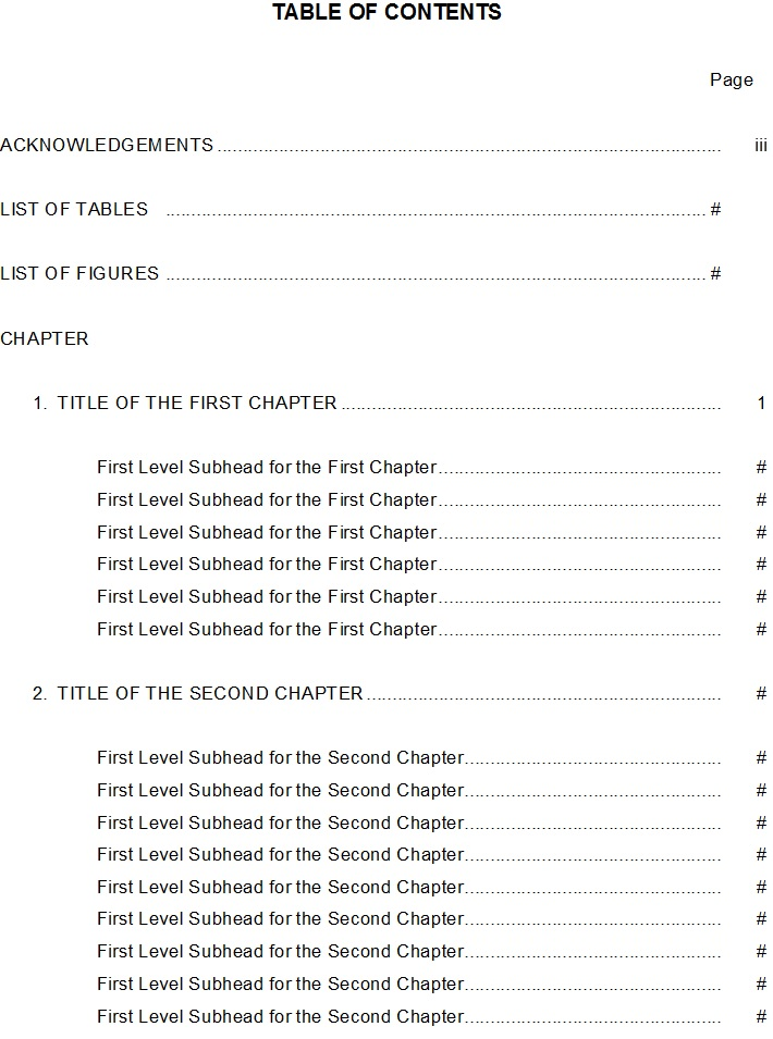 Table-Of-Content-Template 9