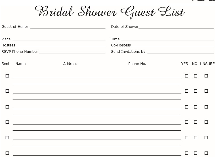 30 Free Wedding Guest List Templates TemplateHub
