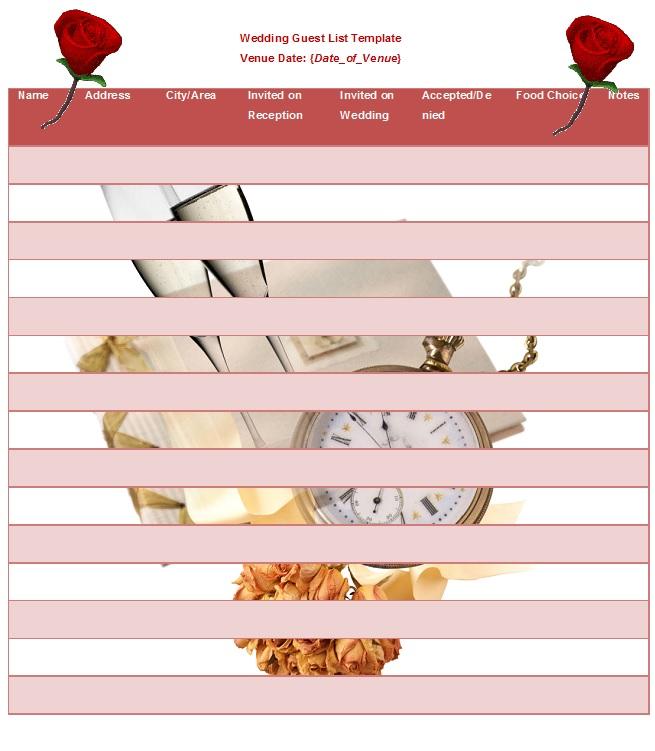 Wedding Guest List Template 25