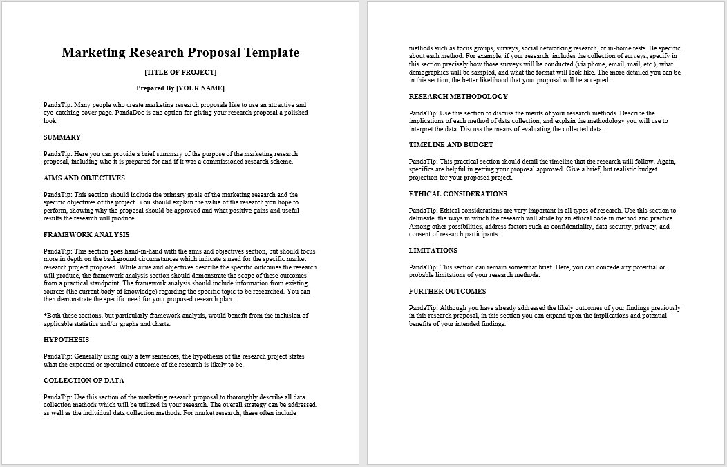 21 Free Research Proposal Samples Templates Templatehub